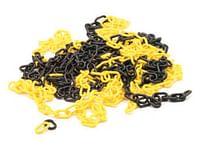 Geel/zwarte ketting - 10m-Perel