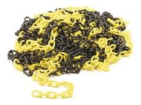 Geel/zwarte ketting - 25m-Perel