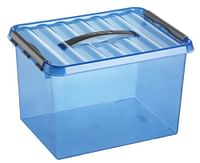 Q-Line Opbergbox Large 22l 400x300x260 mm Ocean Blue-Sunware
