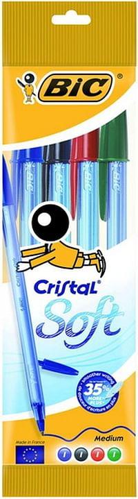 Bic Cristal Soft Assorti 4 Stuks-BIC