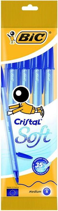 Bic Cristal Soft Blauw 4St-BIC