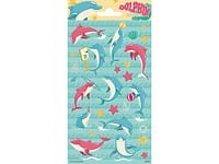 Stickersheets 10.2X20Cm Sheet Paper Dolphins-Vamos