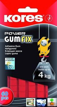 Kores Gumfix Fower 60Squares Blister-Kores