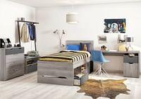3-delige kamer Tempo met bed + bureau + 3d kast-Alsapan