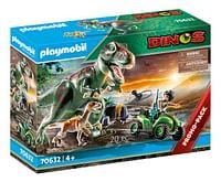PLAYMOBIL Dinos 70632 T-Rex aanval met quad-Playmobil