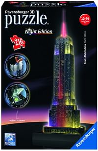 Ravensburger 3D-puzzel Night Edition Empire State Building-Ravensburger