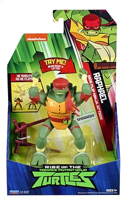 Rise of the Teenage Mutant Ninja Turtles actiefiguur Side Flip Ninja Attack Raphael