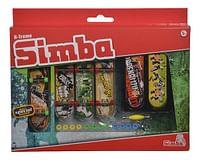 X-Treme Finger Skateboard Mega Set-Simba