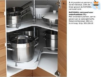 Ikea Promotie Rationell Carrousel Voor Onderhoekkast 75 Huismerk Ikea Keuken En Badkamer Geldig Tot 31 07 10 Promobutler