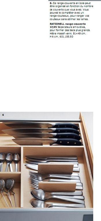 Promotion Ikea Rationell Range Couverts Produit Maison Ikea Menage Valide Jusqua 4 Promobutler