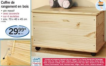 Promotion Lidl Coffre De Rangement En Bois Produit Maison Lidl Meubles Valide Jusqua 4 Promobutler