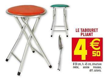 Promotion Gifi Le Tabouret Pliant Produit Maison Gifi Meubles Valide Jusqua 4 Promobutler