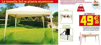 Promotion Gifi La Tonnelle 3x3 M Pliante Aluminium Produit Maison Gifi Jardin Et Fleurs Valide Jusqua 4 Promobutler