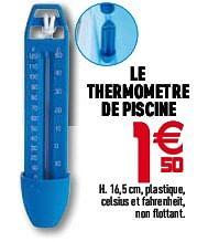 Promotion Gifi Le Thermometre De Piscine Produit Maison Gifi Sports Loisirs Valide Jusquà 4 Promobutler