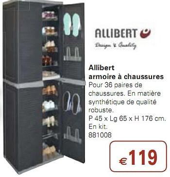 Promotion Colruyt Armoire A Chaussures Allibert Meubles Valide Jusqua 4 Promobutler
