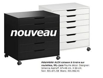 Promotion Ikea Alex Caisson A Tiroirs Sur Roulettes Produit Maison Ikea Materiel Pour Bureau Et Pour L Ecole Valide Jusqua 4 Promobutler