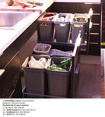 Promotion Ikea Rationell Serie Poubelle De Tri Pour Armoire Produit Maison Ikea Cuisine Salle De Bain Valide Jusqua 4 Promobutler
