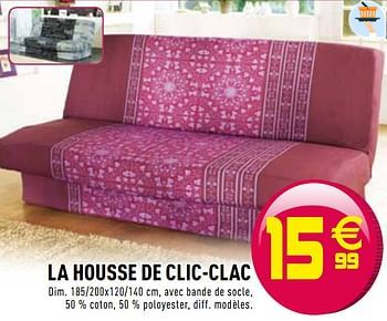 Promotion Gifi La Housse De Clic Clac Produit Maison Gifi Interieur Decoration Valide Jusqua 4 Promobutler