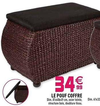 Promotion Gifi Le Pouf Coffre Produit Maison Gifi Meubles Valide Jusqua 4 Promobutler