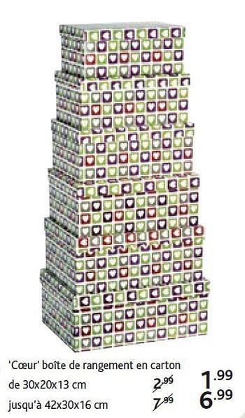 Promotion Casa Boite De Rangement En Carton De Produit Maison Casa Menage Valide Jusqua 4 Promobutler