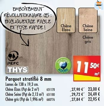 promotion Mr. Bricolage: Parquet stratifié - Group Thys (Construction & Rénovation) - valide ...