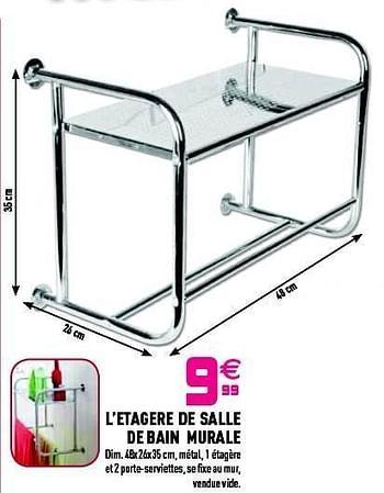 Promotion Gifi L Etagere De Salle De Bain Murale Produit Maison Gifi Cuisine Salle De Bain Valide Jusqua 4 Promobutler