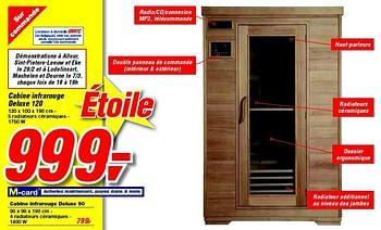 Promotion Makro Cabine Infrarouge Deluxe 120 Produit Maison Makro Piscine Sauna Valide Jusquà 4 Promobutler