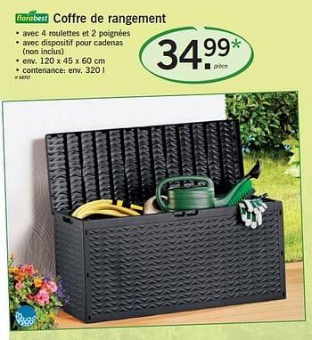 Promotion Lidl Coffre De Rangement Flora Best Jardin Et Fleurs Valide Jusqua 4 Promobutler