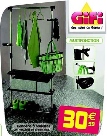 Promotion Gifi Penderie A Roulettes Produit Maison Gifi Meubles Valide Jusqua 4 Promobutler