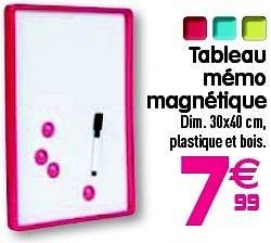Promotion Gifi Tableau Memo Magnetique Produit Maison Gifi Materiel Pour Bureau Et Pour L Ecole Valide Jusqua 4 Promobutler