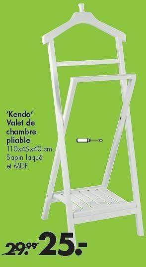 Promotion Casa Kendo Valet De Chambre Pliable Produit Maison Casa Meubles Valide Jusqua 4 Promobutler