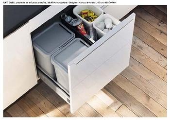 Promotion Ikea Rationell Poubelle De Tri Pour Armoire Produit Maison Ikea Cuisine Salle De Bain Valide Jusqua 4 Promobutler