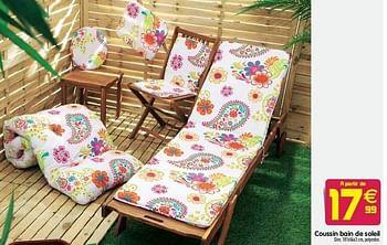 Promotion Gifi Coussin Bain De Soleil Produit Maison Gifi Jardin Et Fleurs Valide Jusqua 4 Promobutler