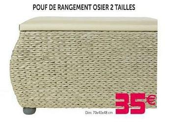 Promotion Gifi Pouf De Rangement Osier 2 Tailles Produit Maison Gifi Meubles Valide Jusqua 4 Promobutler