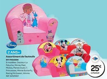 Promotion Carrefour Assortiment De Fauteuils En Mousse Disney Meubles Valide Jusqua 4 Promobutler