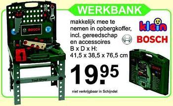 Van Cranenbroek promotie: Werkbank bosch - Theo Klein ...