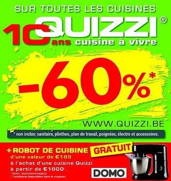 Promotion Hubo 60 Sur Toutes Les Cuisines Quizzi Cuisine Salle De Bain Valide Jusqua 4 Promobutler