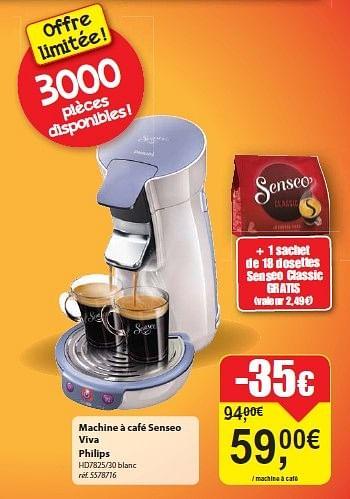 Promotion Carrefour Market Machine A Cafe Senseo Viva Philips Philips Appareils Electriques Valide Jusqua 4 Promobutler