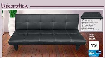 Promotion Carrefour Canape Clic Clac Ruby Noir Produit Maison Carrefour Meubles Valide Jusqua 4 Promobutler