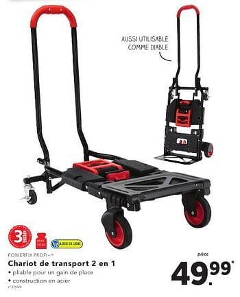 Promotion Lidl Chariot De Transport 2 En 1 Powerfix Bricolage Valide Jusqua 4 Promobutler