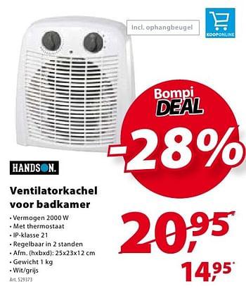 Gamma Promotie Handson Ventilatorkachel Voor Badkamer Handson Verwarming En Airco Geldig Tot 24 10 16 Promobutler