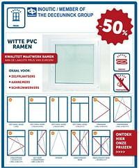 Witte pvc ramen -50%-Deceuninck