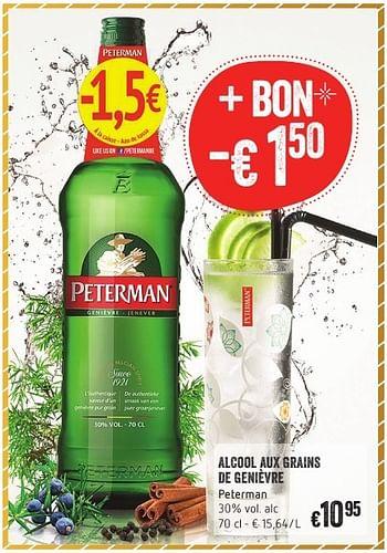 Promotion Delhaize Alcool Aux Grains De Genièvre Peterman Peterman Boissons Valide Jusquà 4 Promobutler
