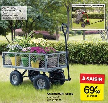 Promotion Carrefour Chariot Multi Usage Produit Maison Carrefour Jardin Et Fleurs Valide Jusqua 4 Promobutler