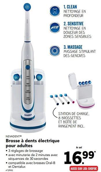 Promotion Lidl Brosse A Dents Electrique Pour Adultes Nevadent Appareils Electriques Valide Jusqua 4 Promobutler