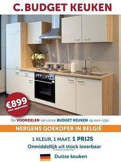 C.budget keuken