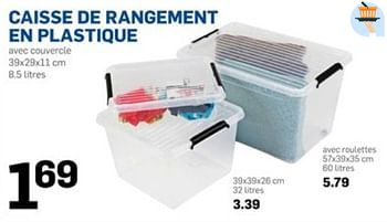 Promotion Action Caisse De Rangement En Plastique Produit Maison Action Menage Valide Jusqua 4 Promobutler