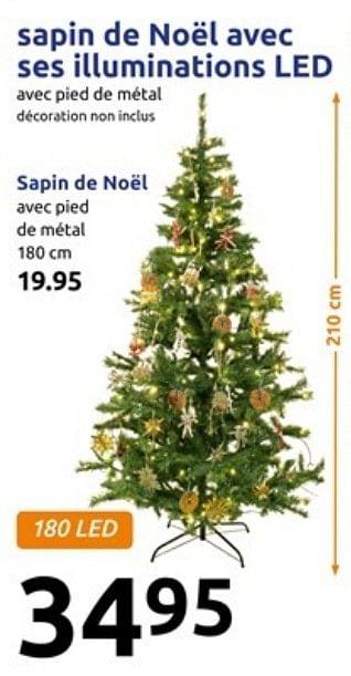 promotion Action: Sapin de noël avec ses illuminations led