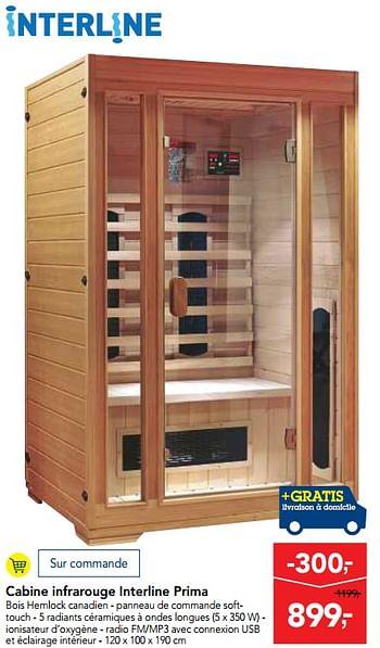 Promotion Makro Cabine Infrarouge Interline Prima Interline Piscine Sauna Valide Jusquà 4 Promobutler