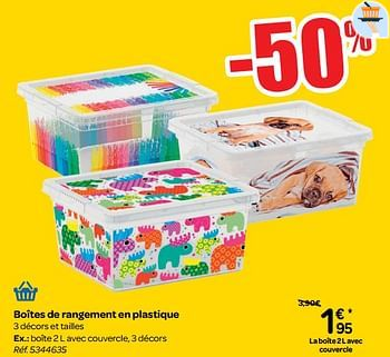 Promotion Carrefour Boites De Rangement En Plastique Produit Maison Carrefour Menage Valide Jusqua 4 Promobutler
